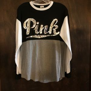 Pink by Victoria's Secret Sequined Tee